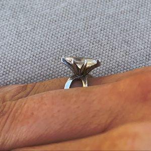 Diamonique Jewelry - Vintage Diamonique marquis sterling ring